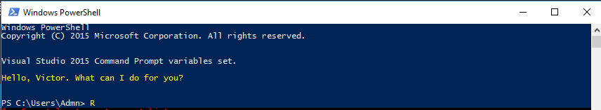 Powershell startup with personalised greeting.